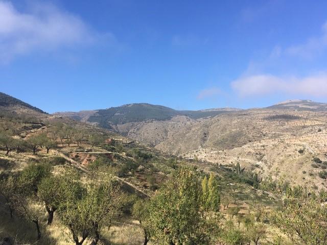 Panorama über das Tal Von Bacares ins Tal des Barrancon