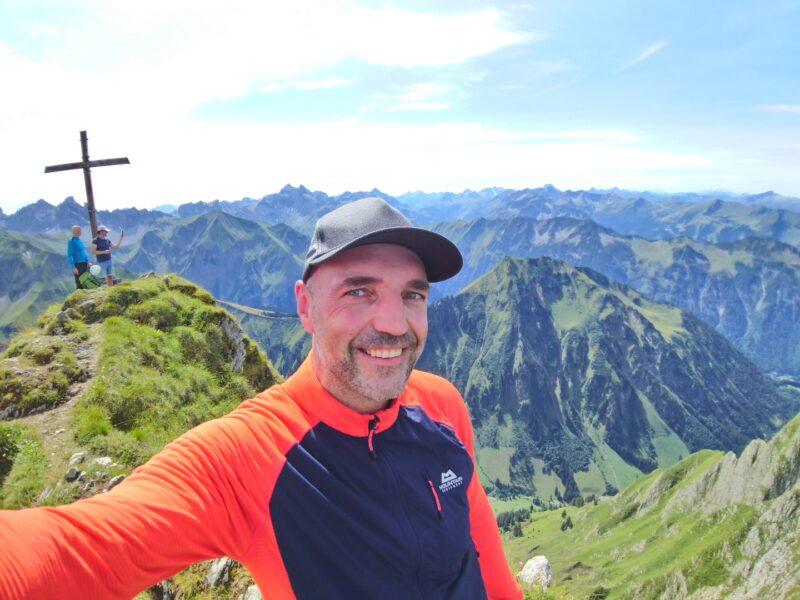 Gipfel am Südwestgrat der Höfats